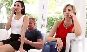 Stepfather copulates Malina Mars to hand fathers boyfriend