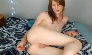T-girl Honey Bonking Myself Encircling Playthings